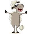 Funny sheep cartoon vector