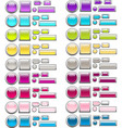Set of glass buttons 2 vector