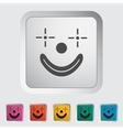 Clown icon vector
