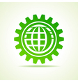 Global shape design in gear concept vector