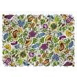 Colorful fantasy floral background vector