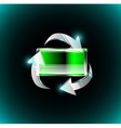 Battery with recycle arrows vector