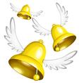 Flying bells vector