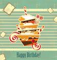 Happy birthday vintage vector