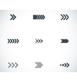 Black arrows icons set vector