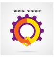 Creative handshake sign and industrial idea vector