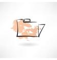 Folder grunge icon vector