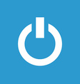Power on icon white on the blue background vector