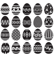 Easter egg set black vector