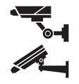Silhouettes of cctv cameras vector
