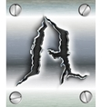Letter cut out in metal vector
