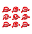 Discount percent sticker price tag vector