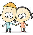 Cute man and woman - isolated on white background vector