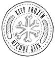 Doodle label keep frozen vector