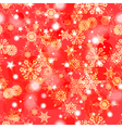 Shiny red winter seamless pattern vector