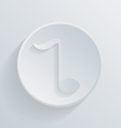 Circle icon with a shadow musical note vector