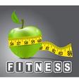 Fitness apple vector