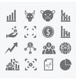 Business human icons set vector