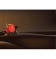 Strawberry in liquid vector