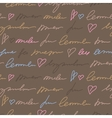 Pattern with hand writing elements vector