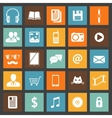 Flat media devices and services icons set vector