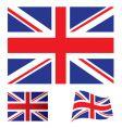 United kingdom flag set vector