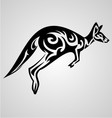 Kangaroo tattoo design vector
