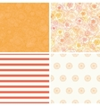 Warm flowers set of four matching repeat vector