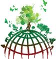 Ink splat tree world vector