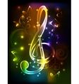 Neon treble clef vector