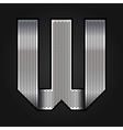 Letter metal chrome ribbon - w vector
