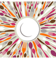 Cutlery restaurant background vector