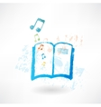 Music book grunge icon vector