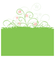 Green background with spring flora vector