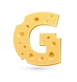 G cheese letter symbol isolated on white vector