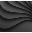 Dark gray wavy background for your design vector