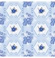 Vintage floral background - blue flowers vector