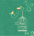 Birds cage vector