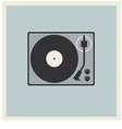 Retro background turntable vinyl record player vector
