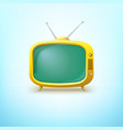 Tv in cartoon style with bright color vector