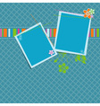 Scrapbook background template vector