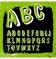 Doodles alphabet grunge vector
