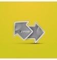 3d glossy arrow technology concept vector