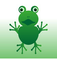 Isolated green frog animal looks at you eps10 vector