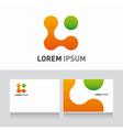 Logo company card organic vector