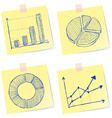 Charts sketches vector