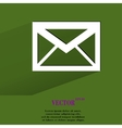 Mail envelope flat modern web button with long vector