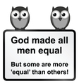 All men equal vector
