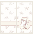Coffee house menu template design in hand drawn vector