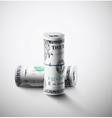 Two rolls of dollars vector